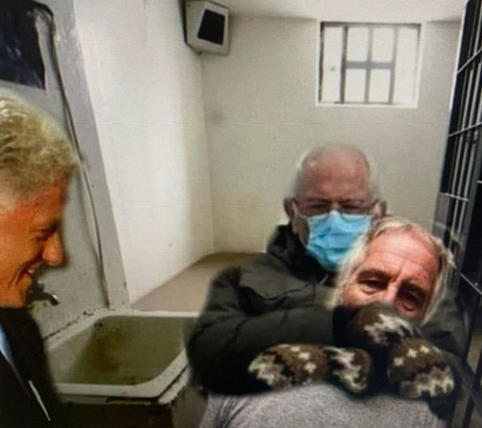 Bernie Sanders Takes Out Jeffrey Epstein in Prison